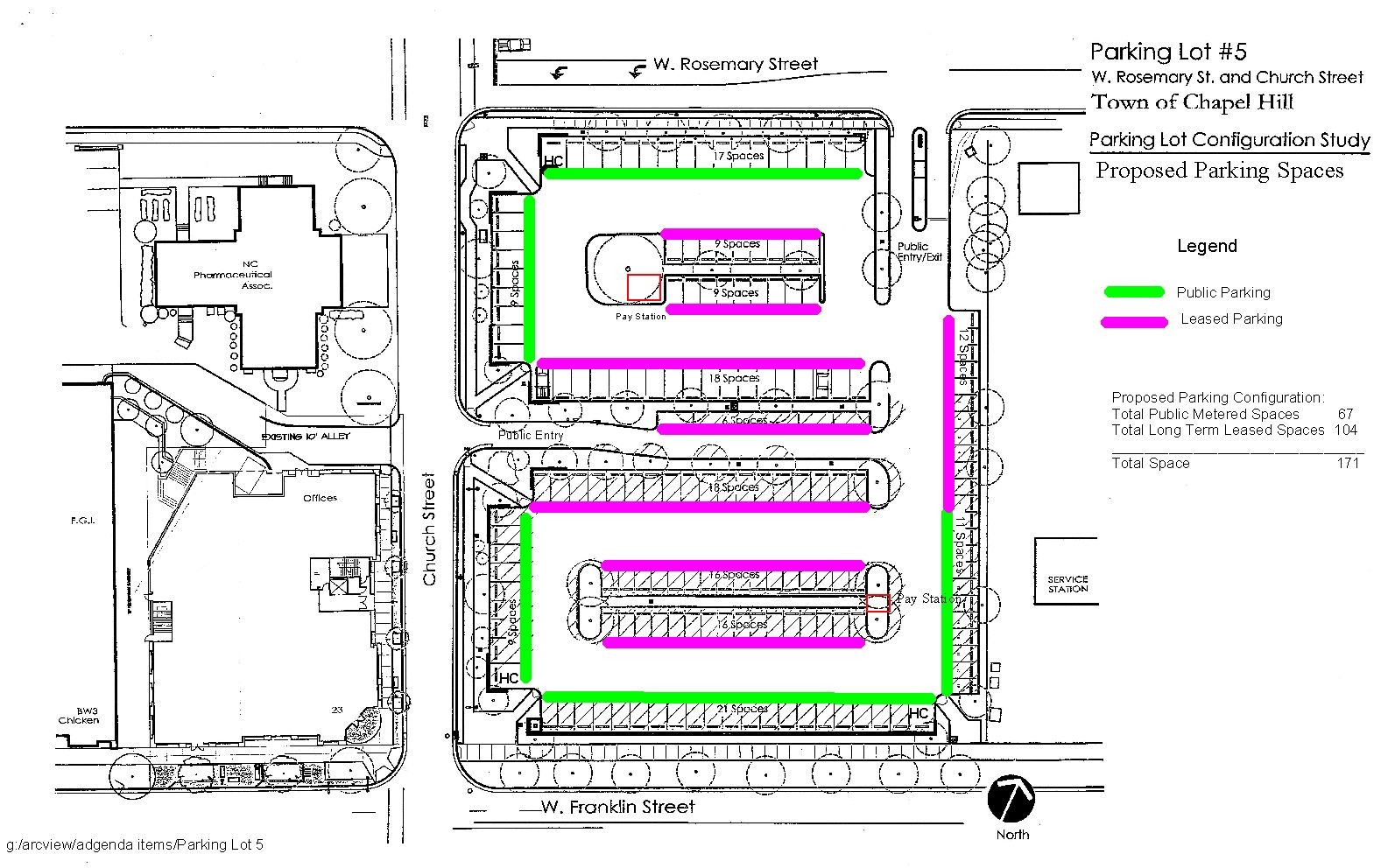 Map of Parking Lot 5  Proposed Configuration. AGENDA  1